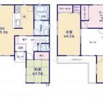 新潟市中央区女池西の新築住宅2号棟の間取り図