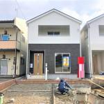 新潟市東区東明の新築住宅の1号棟外観写真