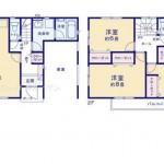新潟市江南区西町の新築住宅の間取り図
