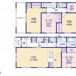 新潟市東区東明の新築住宅の1号棟間取り図