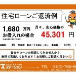 新潟市秋葉区金沢町の新築住宅の住宅ローン返済例