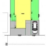 新潟市西区新通西の建物プラン例の配置図