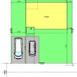 新潟市西区五十嵐2の町の建物プラン例の配置図②