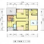 新潟市西区五十嵐2の町の建物プラン例の2階間取図②