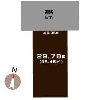 新潟市秋葉区みそら野3丁目の土地の敷地図