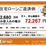 新潟市江南区西町の新築住宅の住宅ローン返済例