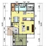 新潟市西区新通西の建物プラン例の1階間取り図