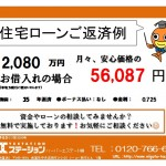 新潟市西区小針南の【中古住宅】不動産情報の返済例