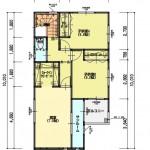 新潟市西区新通西の建物プラン例の2階間取り図