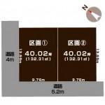 新潟市西区新通西の【土地・分譲地】不動産情報の敷地図