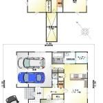 新潟市西区亀貝の中古住宅の間取図