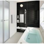 新潟市江南区天野の新築住宅の浴室完成予想図※実際の施工とは多少異なる場合があります。