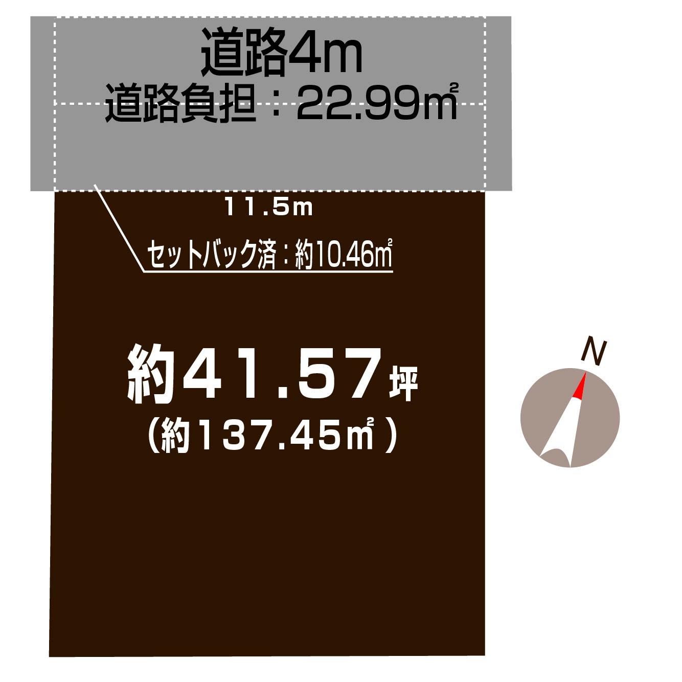 新潟市中央区神道寺の土地の敷地図