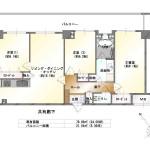 新潟市中央区万代の中古マンションの間取り図