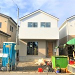 新潟市秋葉区中野の新築住宅の2号棟外観写真