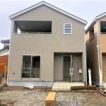 新潟市江南区天野の新築住宅2号棟の外観写真
