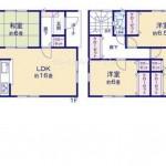 新潟市秋葉区中野の新築住宅の間取り図