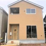 新潟市江南区天野の新築住宅1号棟の外観写真
