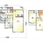 新潟市北区土地亀の新築住宅16号棟の間取り図