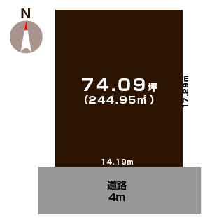新潟市秋葉区善道町の土地の敷地図