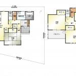 新潟市北区土地亀の新築住宅8号棟の間取り図