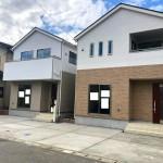 新潟市秋葉区中野の新築住宅の1号棟外観写真