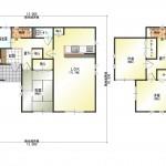 新潟市北区土地亀の新築住宅13号棟の間取り図
