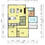 新潟市中央区神道寺の土地の建物プラン例(2階間取図)