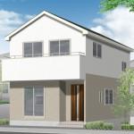 新潟市秋葉区中野の新築住宅の2号棟外観完成予定パース