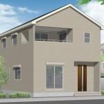 新潟市江南区天野の新築住宅2号棟の外観完成予定パース