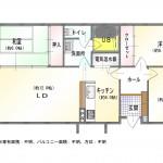 新潟市東区大形本町の中古マンションの間取図