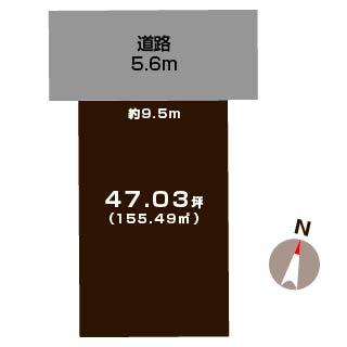 新潟市東区物見山の土地の敷地図