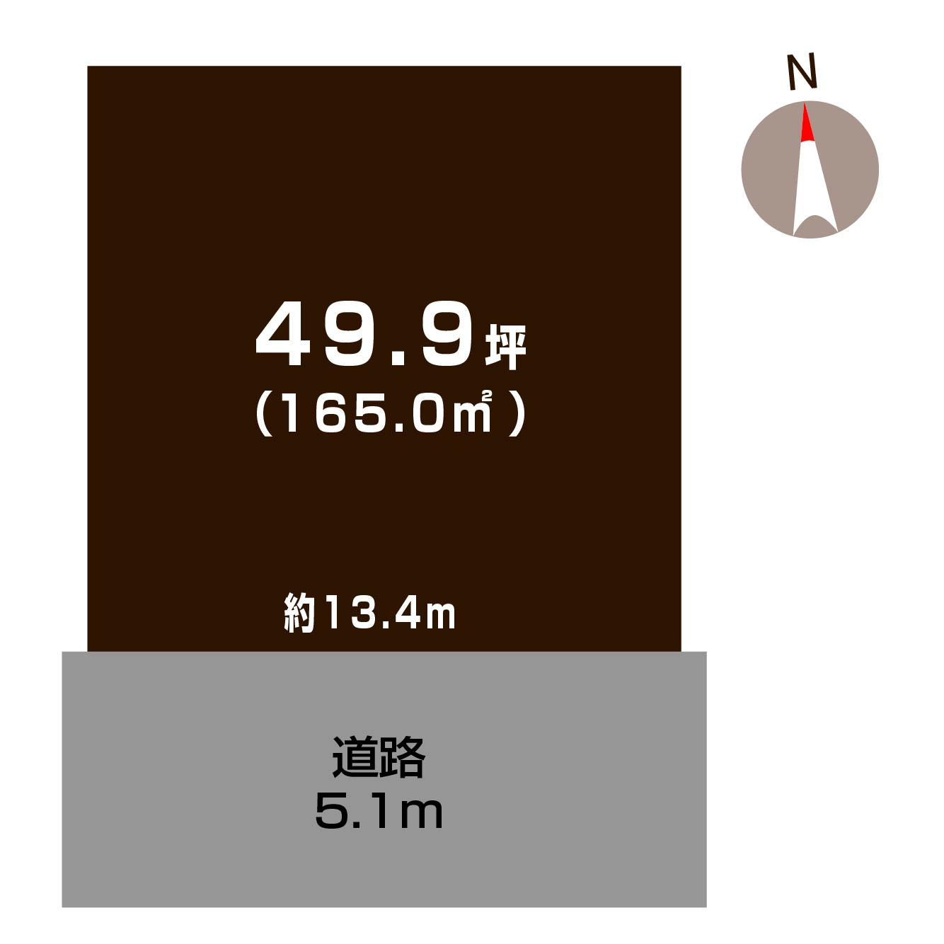 新潟市東区宝町の土地の敷地図