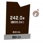 新潟市北区木崎の【土地】の敷地図