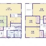 新潟市秋葉区程島の新築住宅の間取り図