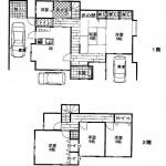新潟市江南区亀田新明町の中古住宅の間取図