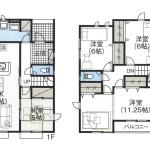 新発田市住吉町(2号棟)の新築住宅の間取り図