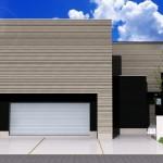 新潟市西区小新の土地の建物プラン例(外観パース)