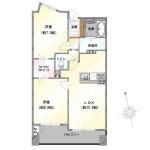 新潟市中央区万代の中古マンションの間取図