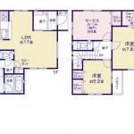 新潟市中央区東幸町4号棟の新築住宅の間取り図