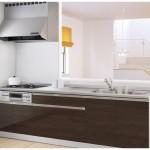 新潟市秋葉区程島の新築住宅のキッチン完成予想図※実際の施工とは多少異なる場合があります。
