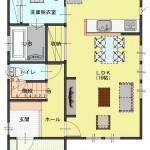 燕市水道町の土地の建物プラン例の間取図1階