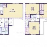 新潟市中央区東幸町3号棟の新築住宅の間取り図