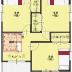 燕市水道町の土地の建物プラン例の間取図2階