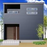 新潟市江南区諏訪の土地の建物プラン例の外観パース