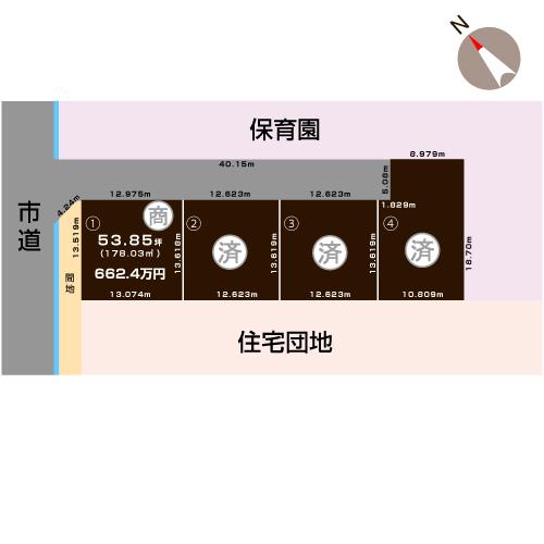 加茂市柳町の土地の敷地図