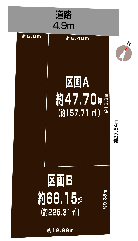 新潟市江南区諏訪の土地の敷地図