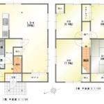 新発田市豊町の中古住宅の間取図