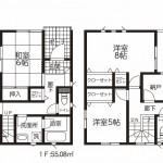 新潟市中央区高志の新築住宅の間取り図