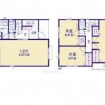 新潟市南区白根東町の新築住宅の間取り図